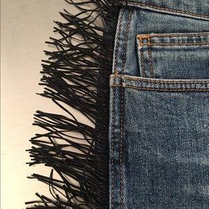 Bebe fringed jeans